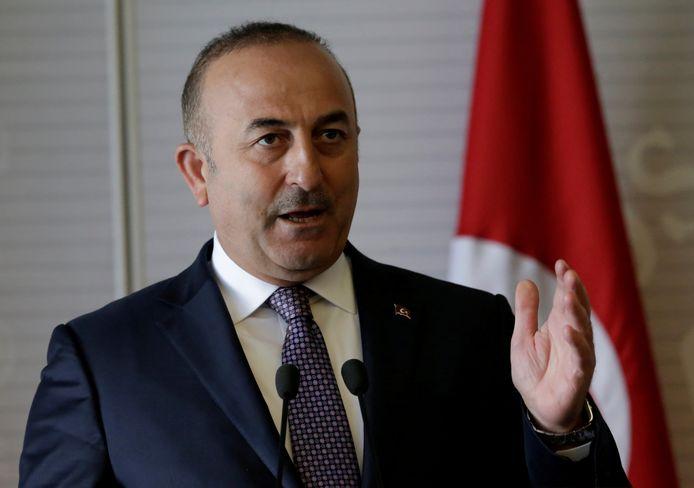 De Turkse minister van Buitenlandse Zaken.