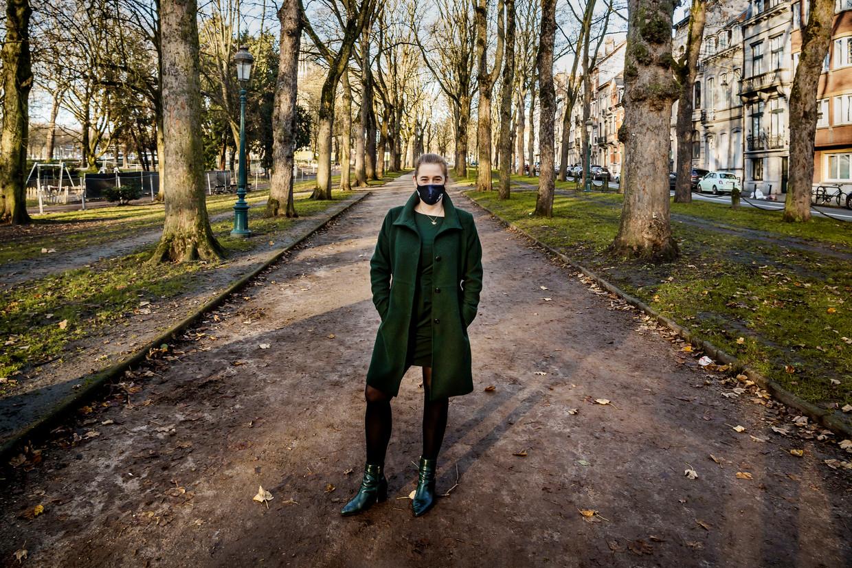Elke Van den Brandt. 'Het Brusselse succes van de groenen is geen one shot. De groene beweging is hier zeer breed. Dat brengt ook hoge verwachtingen met zich mee.'