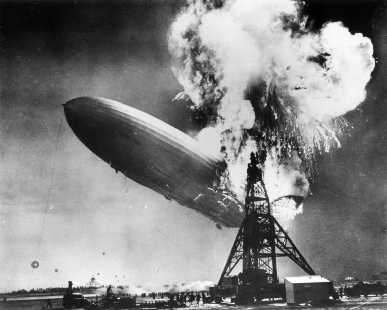 De ramp met de Hindenburg (Sam Shere, New Jersey, 1937). Beeld Sam Shere / Getty Images
