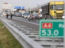 A4 richting Amsterdam tot middaguur afgesloten door ongeluk ter hoogte van Prins Clausplein