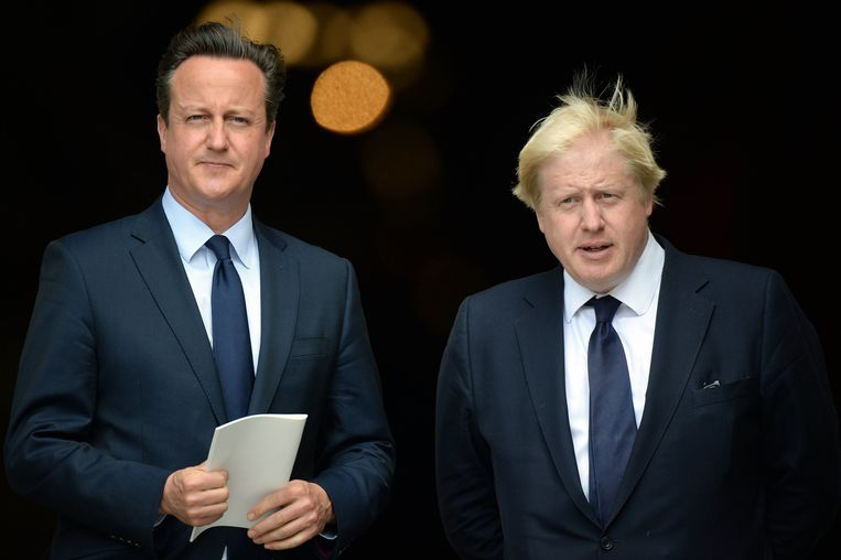 David Cameron en Boris Johnson. Beeld Photo News