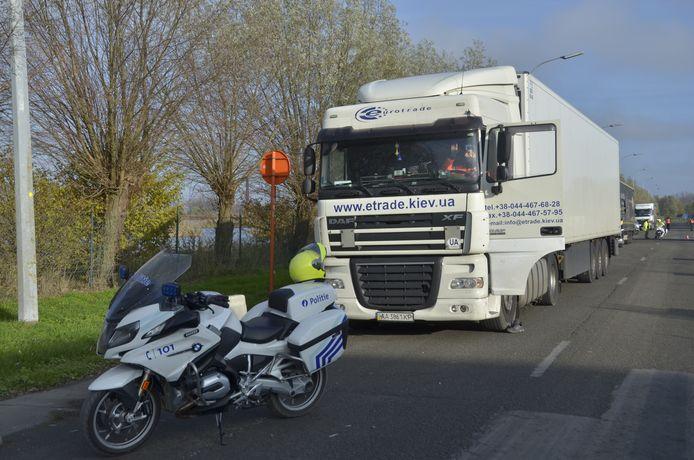 De politie controleerde vooral op zwaar vervoer.