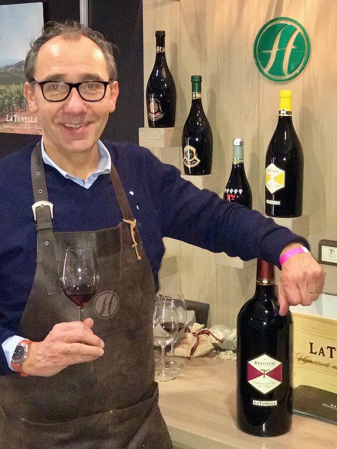 Wijn-inkoper Bert Horstman van Heisterkamp Wijnkopers in Ootmarsum is erg blij met zijn Diamond Award.