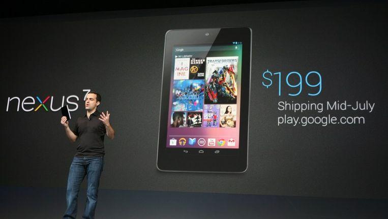 De presentatie van de Nexus 7 Beeld afp