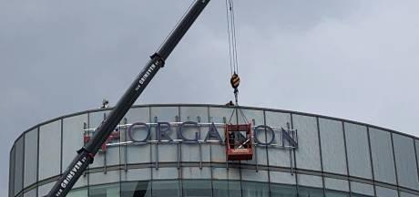 Naam Organon terug in Oss, met logo op de ovale toren