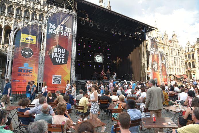 Brussels Jazz Weekend 2018 op de grote markt van Brussel