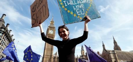 Duizenden demonstranten in Londen tegen Brexit