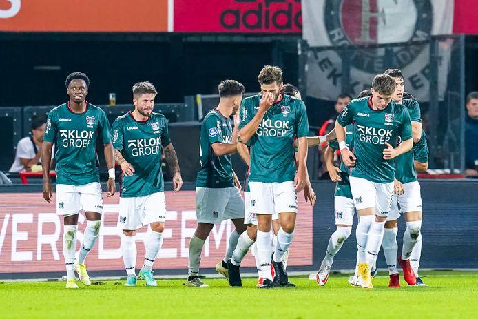 ROTTERDAM, Stadium de Kuip, Dutch eredivisie, Feyenoord - NEC , Season 2020/2021 , 25-09-2021, NEC player Calvin Verdonk scores the 2-3