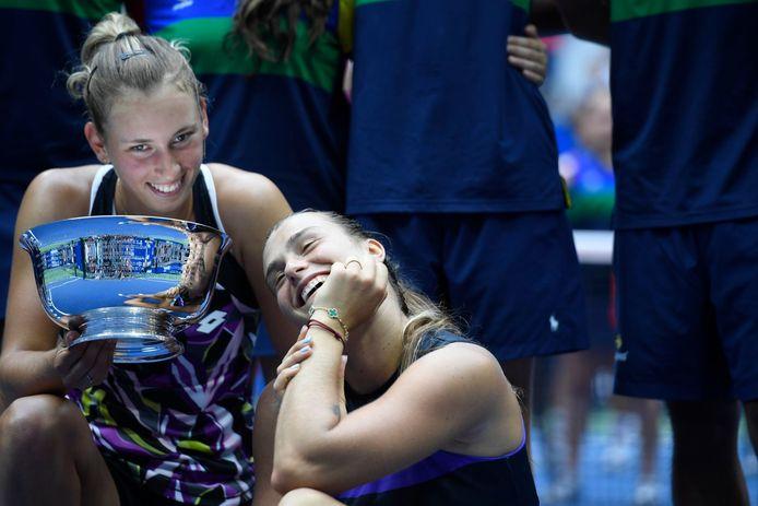 Mertens en Sabalenka wonnen eerder dit jaar de US Open in het dubbel.