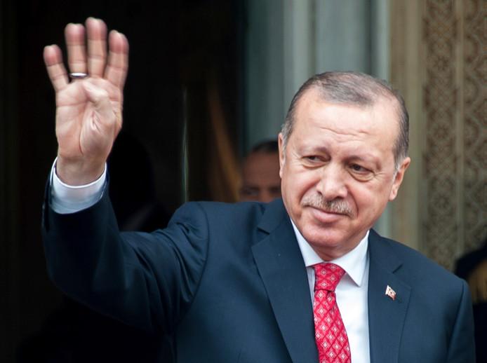 De Turkse president Recep Tayyip Erdogan
