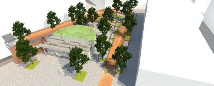 Plannen van de stad. Figuur 2