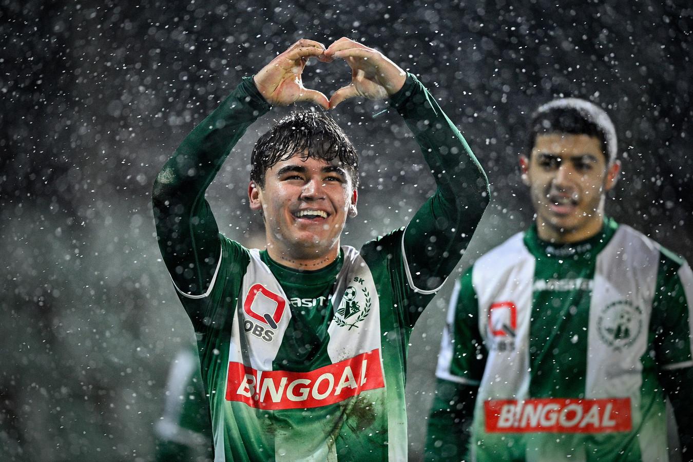 Manfred Ulgalde, hier in het shirt van Lommel SK, speelt het komende seizoen voor FC Twente.