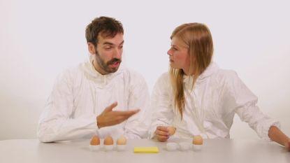 """Eva De Roo doet 'Break An Egg' met haar eigen lief: """"Ik heb al eens aan een collega gedacht tijdens seks met jou"""""""