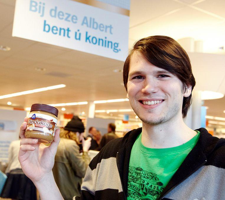 Tien jaar geleden werd in Brasschaat de eerste AH-winkel in Vlaanderen geopend. Ook toen was pindakaas een van de populairste producten.  Beeld ANP