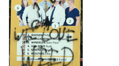 Verkiezingsaffiches N-VA mikpunt van vandalen