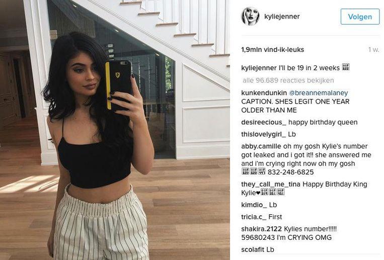 Een post van Kylie Jenner op Instagram Beeld Kylie Jenner