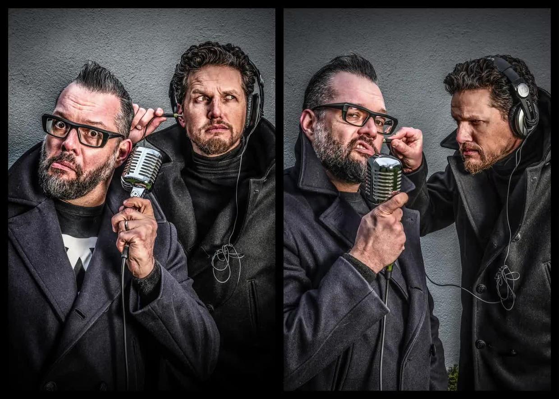 Alex Agnew & Michael Van Peel. Beeld Humo