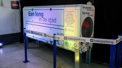 Deze 'long' in parking 2 Portes maakt van uitlaatgassen lucht die zuiverder is dan buiten