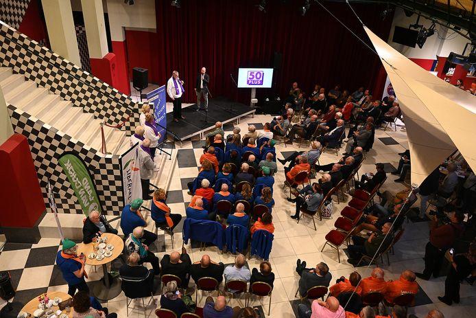 De start van de verkiezingscampagne in de schouwburg in Cuijk.