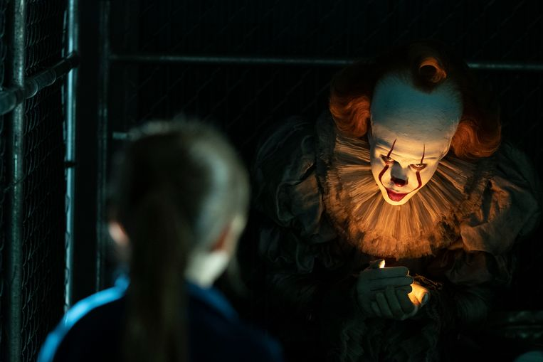 Still uit 'It: Chapter 2' met Bill Skarsgard als Pennywise. Beeld AP