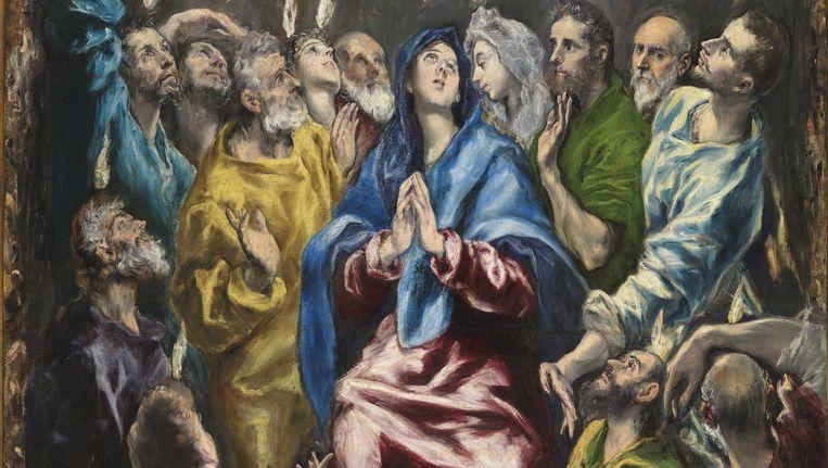 Pentecostés (Pinksteren) van El Greco is vanaf 18 februari in de Nieuwe Kerk te zien Beeld Museo Nacional del Prado