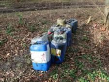 Vaten met drugsafval gevonden bij De Uithof