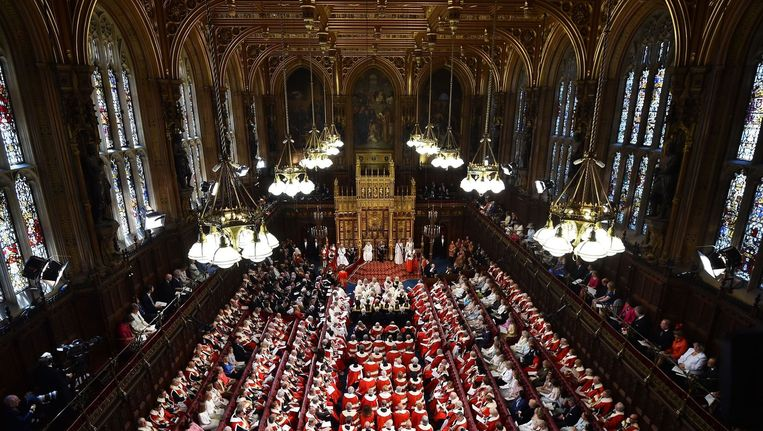 De House of Lords staat bol van traditie en eeuwenoude gebruiken. Beeld PHOTO_NEWS