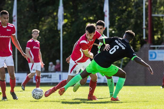 Sjoerd te Boekhorst scoorde een loepzuivere hattrick voor AZSV.