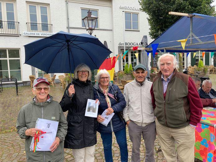 De familie Van Dijk bij de start van ToerMee in Moergestel.