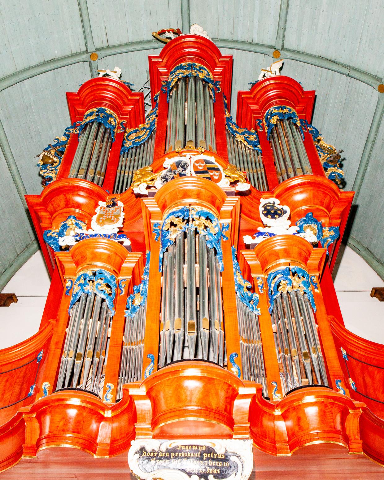 Het De Crane-orgel in de Hervormde Kerk in Waspik.  Beeld Hilde Harshagen
