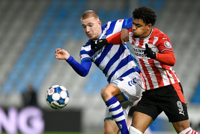 Jasper van Heertum duelleerde onlangs in de beker nog stevig met PSV-spits Donyell Malen, maar ook hij kon uitschakeling niet voorkomen. PSV won met 1-2.