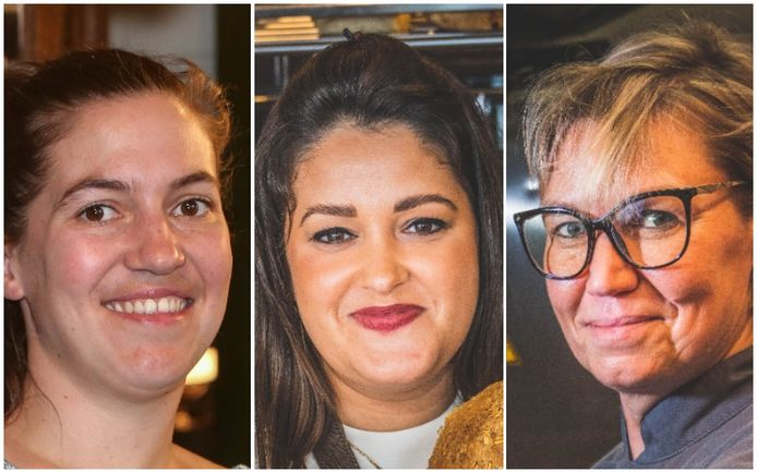 Mandelon Vanzieleghem (34), Ann Notredame (31) en Kelly Vandamme (45)