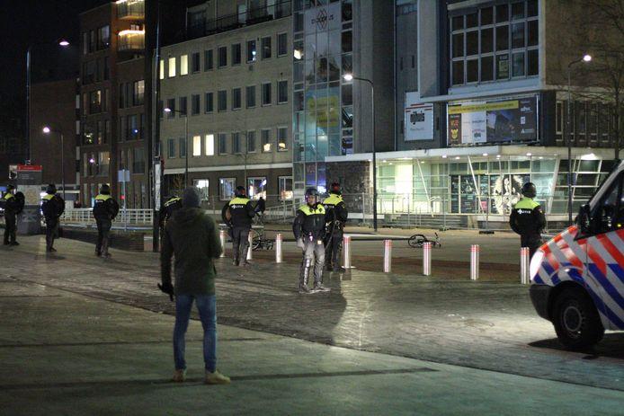 De binnenstad van Enschede zondagavond.