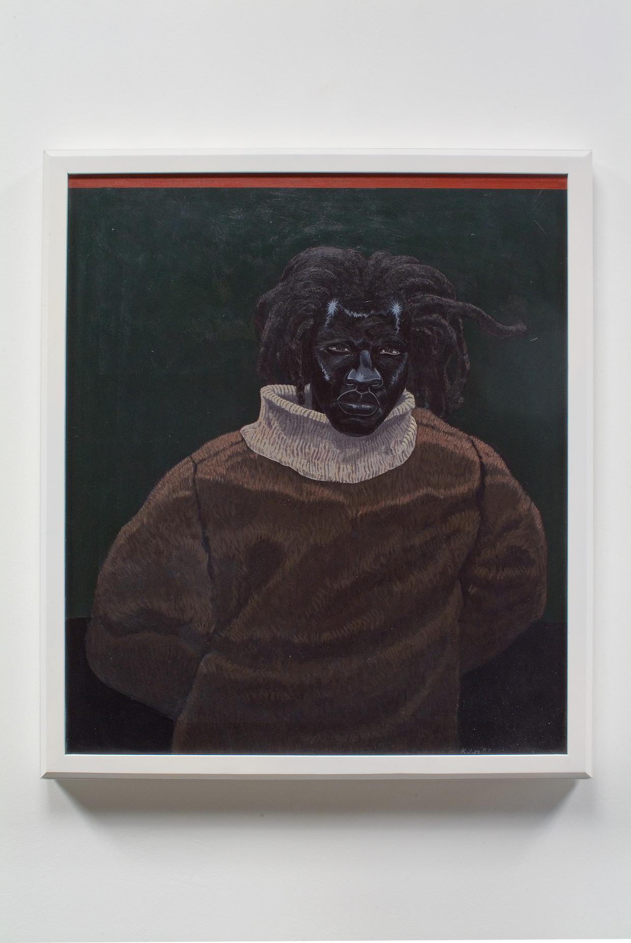 Kerry James Marshall, 'Portrait of John Punch (Angry Black Man 1646)', 2008. Acrylverf op paneel. Beeld Kerry James Marshall. Met toestemming van de kunstenaar en Jack Shainman Gallery, New York.