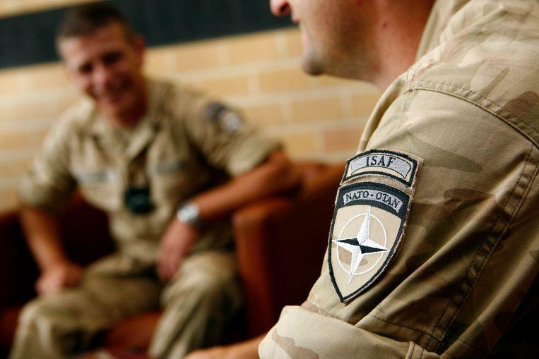 Belgische soldaten die zich opmaken voor hun missie naar Afghanistan.