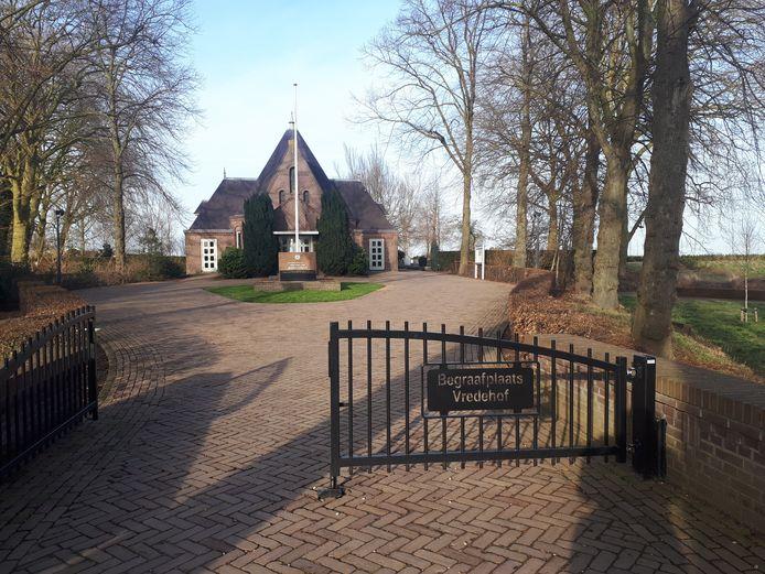 De begraafplaats in Bodegraven waar het allemaal om draait.