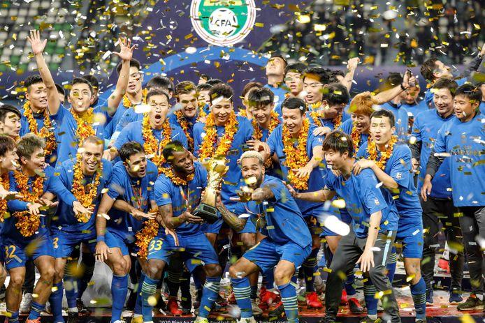 Jiangsu Suning FC werd in november nog Chinees landskampioen.