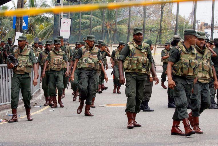Sri Lanka heeft de bewaking rond kerken en andere religieuze gebouwen verscherpt Beeld epa