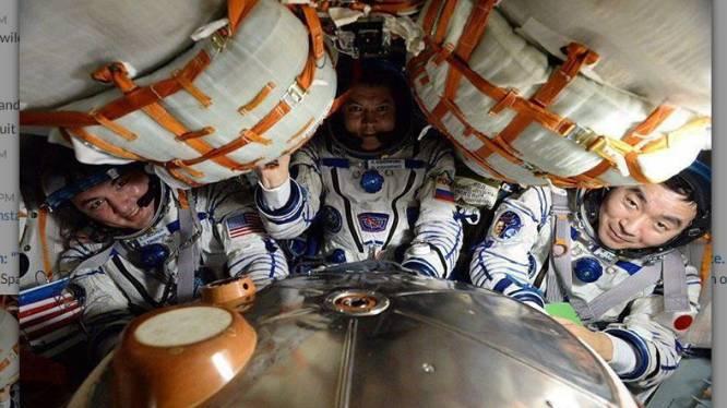 ISS-bemanningsleden veilig terug op besneeuwde aarde