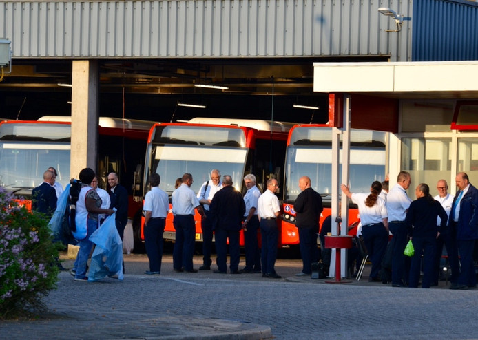Werkonderbreking buschauffeurs in Breda.