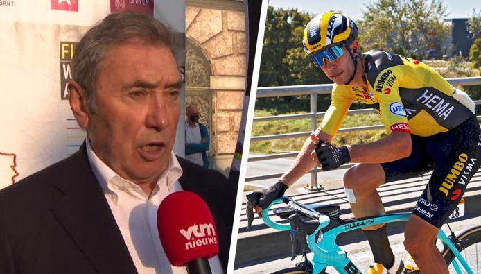Eddy Merckx is danig onder de indruk van de prestaties van Van Aert in Frankrijk.