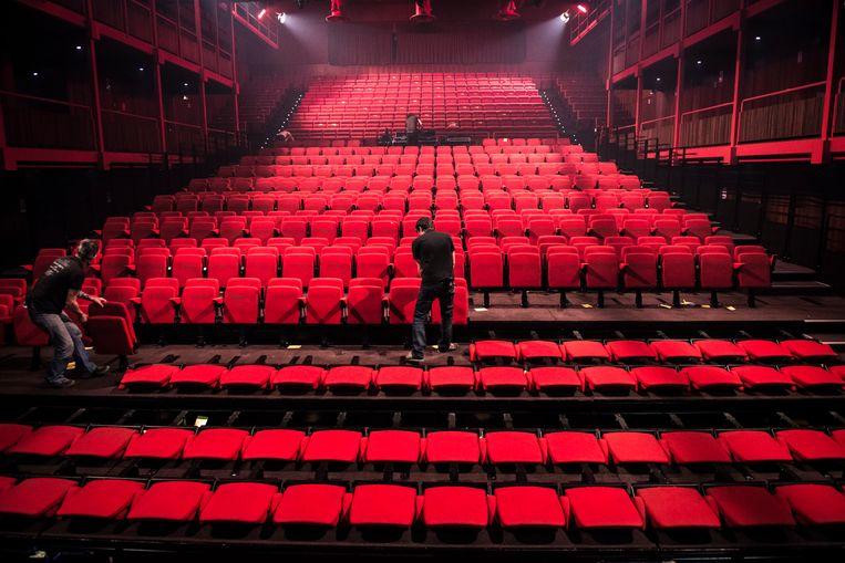 Een lege AB. Sinds 10 maart zijn er geen live optredens meer geweest in de concertzaal. Beeld Kobe Van Hecke