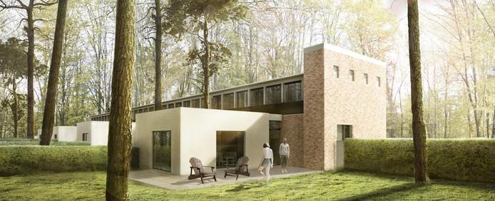 Het nieuwe ontwerp voor de openluchtschool in Goirle.