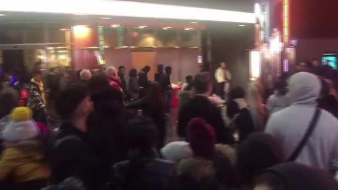 Massale vechtpartij in Birmingham.