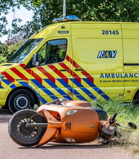 Scooterrijder gewond in Tilburg