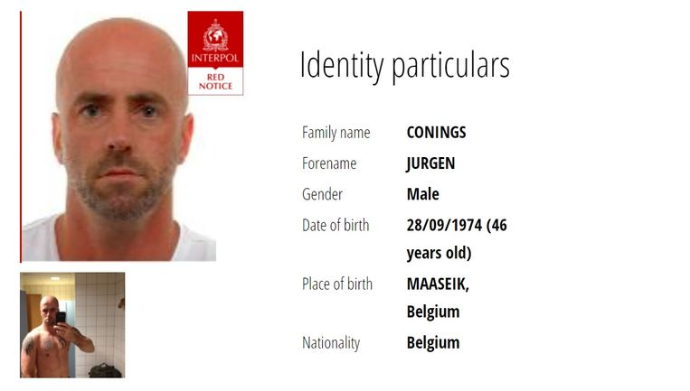 Jürgen Conings staat geseind op Interpol. Mogelijk is hij een Ideologische Zoeker. Beeld Interpol