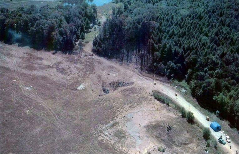 'Het vliegtuig, dat door de kapers naar Washington was gestuurd, stortte om 10.03 uur neer in de buurt van het piepkleine dorpje Shanksville in Pennsylvania, op een kwartiertje vliegen van de Amerikaanse hoofdstad' Beeld
