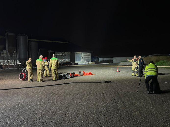 De brandweer rukte deze week voor de tweede keer uit naar een boerenbedrijf aan de Huijgevoort in Middelbeers. Hier ontsnapte gas uit de maïskuil.