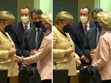 Dat gaat niet zo soepel: Merkel schrikt zich rot van hand EU-voorzitter