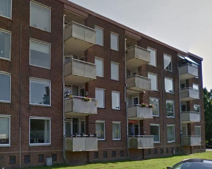 Flatgebouw in de Agaatstraat in Breda.